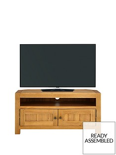 Luxe Collection - Grantham 100% Solid Oak Ready Assembled Corner TV Unit - fits up to 46 Inch TV