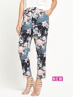 oasis-lotus-print-soft-trouser