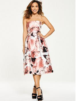 Myleene Klass Floral Bandeau Prom Dress