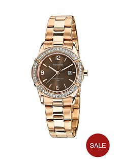 accurist-accurist-chooclate-dial-stone-bezel-rose-bracelet-ladies-watch