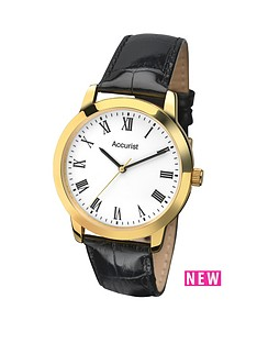 accurist-accurist-white-dial-black-leather-strap-mens-watch