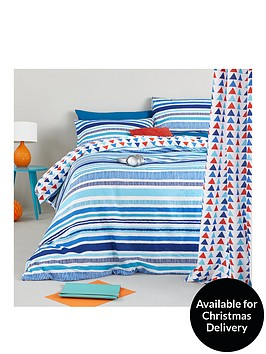 catherine-lansfield-pixel-stripe-fitted-bed-sheet-twin-pack