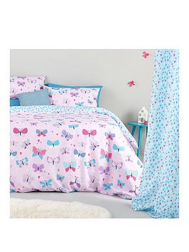 catherine-lansfield-butterfly-spot-fitted-bed-sheet-twin-pack