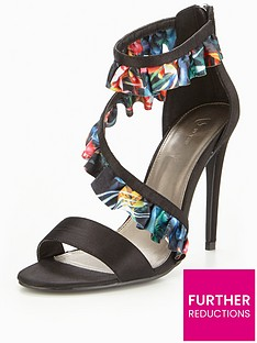 v-by-very-gisesle-asymmetric-frill-heeled-sandal--floral