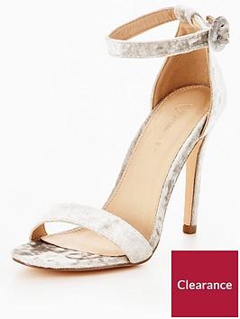 v-by-very-bella-ankle-strap-minimal-heeled-velvet-sandal-silver