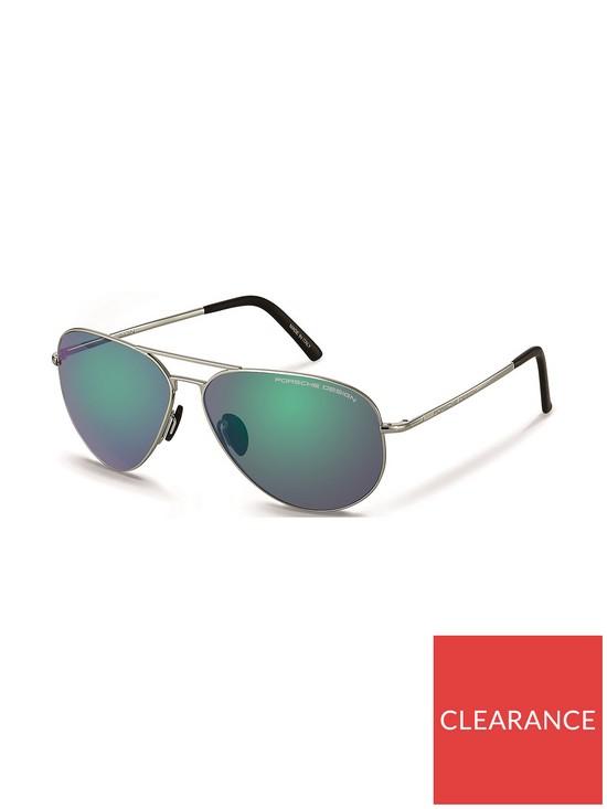 74bdd23b47ab PORSCHE DESIGN Aviator Style Sunglasses