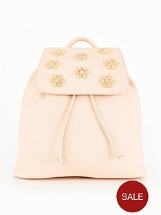 miss-selfridge-hexagon-detail-back-pack-nude
