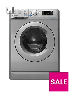 Indesit Innex BWD71453S 7kg Load, 1400 Spin Washing Machine - Silver