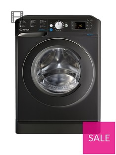 Indesit Innex BWD71453K 7kg Load, 1400 Spin Washing Machine - Black, A+++ Energy Rating