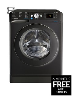 Indesit Innex BWD71453K 7kg Load, 1400 Spin Washing Machine - BlackA+++ Energy Rating