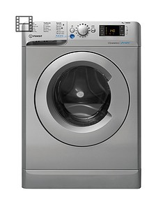 Indesit Innex BWE91484XS 9kg Load, 1400 spin Washing Machine - Silver