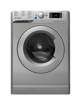 Indesit Innex Bwe91484Xs 9Kg Load, 1400 Spin Washing Machine - Silver Best Price, Cheapest Prices