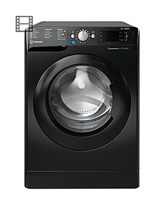 Indesit BWE91484XK 9kg Load, 1400 spin Washing Machine - Black