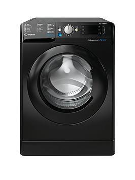 Indesit Bwe91484Xk 9Kg Load, 1400 Spin Washing Machine - Black