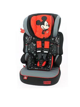 Mickey Mouse Disney Mickey Mouse Beline Sp Group 123 Car High Back Booster Seat