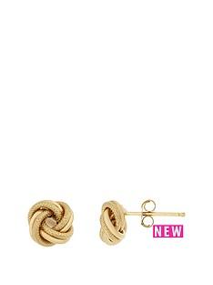 bracci-bracci-9ct-yellow-gold-7mm-textured-and-plain-knot-stud-earrings