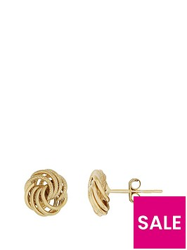 bracci-9ct-yellow-gold-8mmnbsptextured-and-plain-knot-stud-earrings
