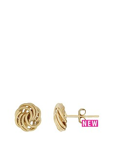 bracci-bracci-9ct-yellow-gold-8mm-textured-and-plain-knot-stud-earrings