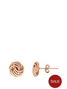 bracci-bracci-9ct-rose-gold-8mm-textured-and-plain-knot-stud-earrings