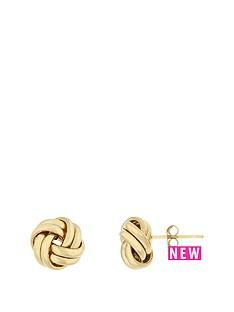 bracci-bracci-9ct-yellow-gold-10mm-plain-knot-stud-earrings