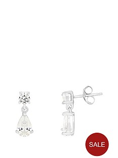 the-love-silver-collection-sterling-silver-cubic-zirconia-teardrop-stud-earrings