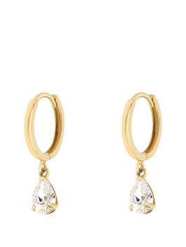 love-gold-9ct-yellow-gold-hoop-cubic-zirconianbsppear-drop-earrings