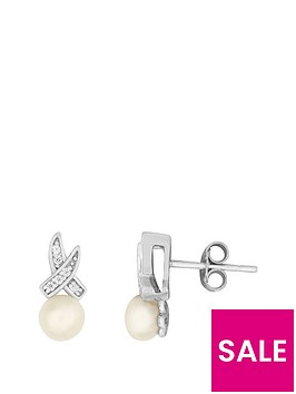 love-pearl-sterling-silver-rhodium-plated-button-freshwater-pearl-amp-cubic-zirconia-kiss-stud-earrings