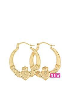 bracci-bracci-9ct-yellow-gold-claddagh-creole-earrings