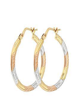 bracci-bracci-9ct-3-col-diamond-cut-24mm-hoop-creole-earrings