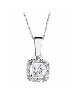 love-diamond-9ct-white-gold-17-point-diamond-princess-cut-halo-pendant-on-18-inch-curb-chain