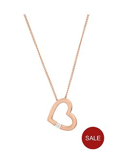 the-love-silver-collection-sterling-silver-rose-gold-plated-cubic-zirconia-heart-pendant