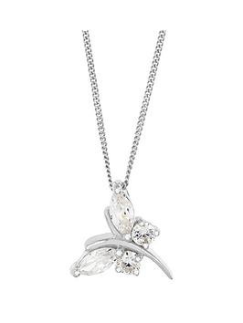 the-love-silver-collection-sterling-silver-white-cubic-zirconianbspbutterfly-pendant