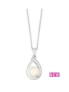 love-pearl-sterling-silver-rhodium-plated-button-freshwater-pearl-amp-cubic-zirconia-pear-shape-pendant