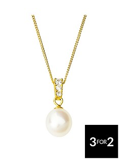 love-pearl-sterling-silver-gold-plated-freshwater-pearl-amp-cubic-zirconia-pendant