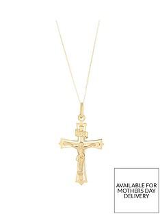 bracci-bracci-9ct-yellow-gold-crucifix-pendant-on-curb-chain