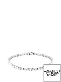 the-love-silver-collection-sterling-silver-round-mini-cubic-zirconianbsptennis-bracelet