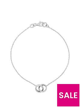 the-love-silver-collection-sterling-silver-rhodium-plated-interlocking-rings-bracelet