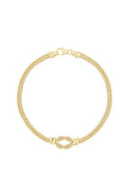 bracci-bracci-9ct-yellow-gold-two-strand-popcorn-chain-knot-bracelet