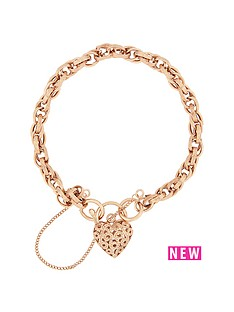 bracci-bracci-9ct-rose-gold-textured-link-heart-filigree-clasp-with-safety-chain-bracelet