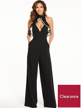 myleene-klass-ruffle-jumpsuit-black