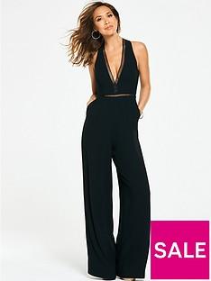 myleene-klass-ladder-trim-wide-leg-jumpsuit-black