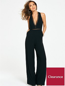 myleene-klass-ladder-trim-wide-leg-jumpsuit-black