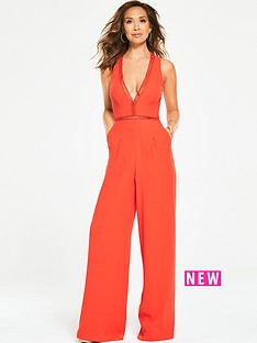 myleene-klass-ladder-trim-wide-leg-jumpsuit-orange