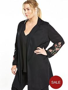 v-by-very-curve-embroidered-longline-jacket-black