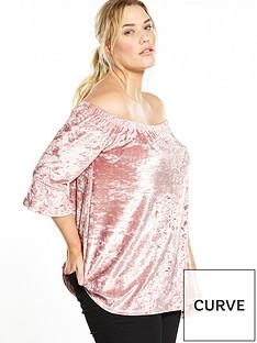 v-by-very-curve-velvet-bardot-top-blush
