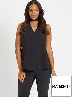 rochelle-humes-maternity-blouse-ndash-black
