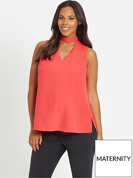 rochelle-humes-maternity-blouse-ndash-coral