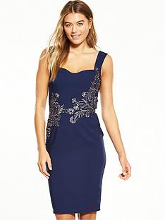 little-mistress-silver-trim-bodycon-dress-navy