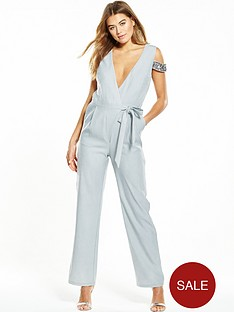 little-mistress-embellished-wrap-jumpsuit