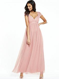 little-mistress-crochet-cap-sleeve-mesh-maxi-dress-blush